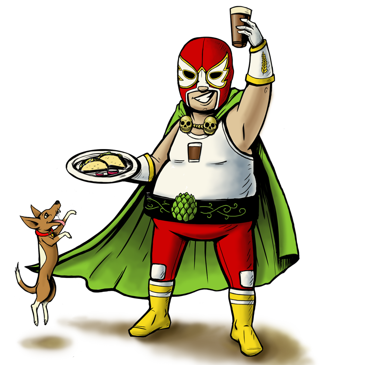 Wrestlers clipart luchadores. Luchador night victory brewing