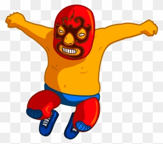 Wrestlers clipart luchadores. Free png luchador clip