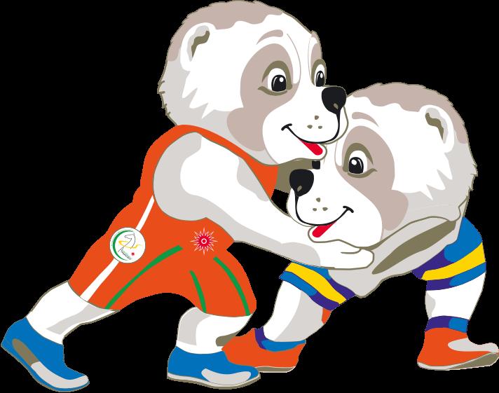 Wrestlers clipart mascot. The games ashgabat wrestling