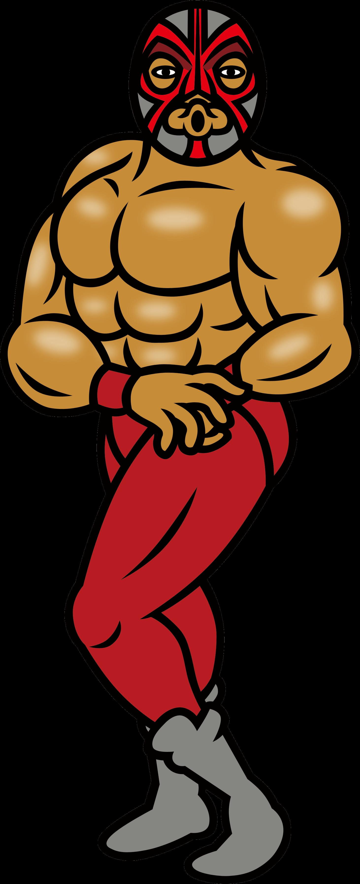 Wrestlers clipart muscular. Image wrestler wii png
