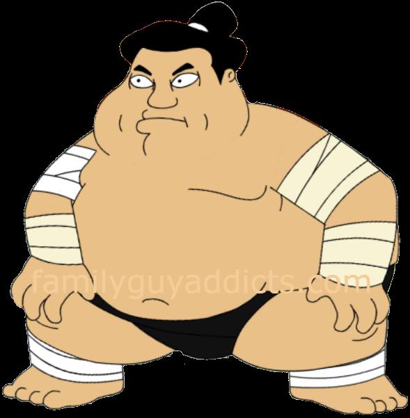 Sumo wrestler family guy. Wrestlers clipart muscular