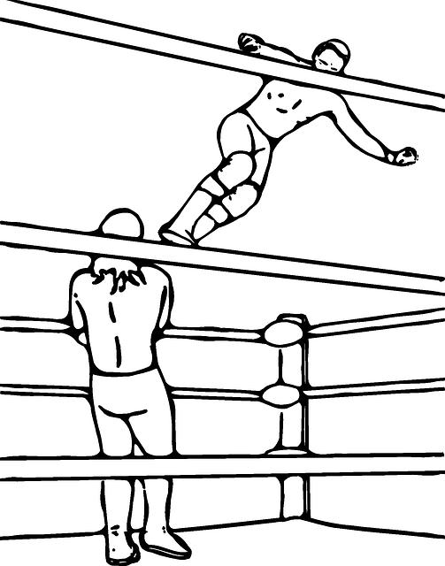 Dropkick ropes turnbuckle wrestler. Wrestlers clipart professional wrestling