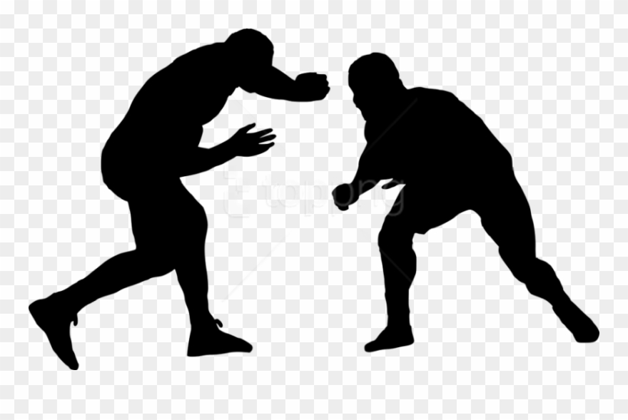 Wrestlers clipart silhouette. Free png sport wrestling
