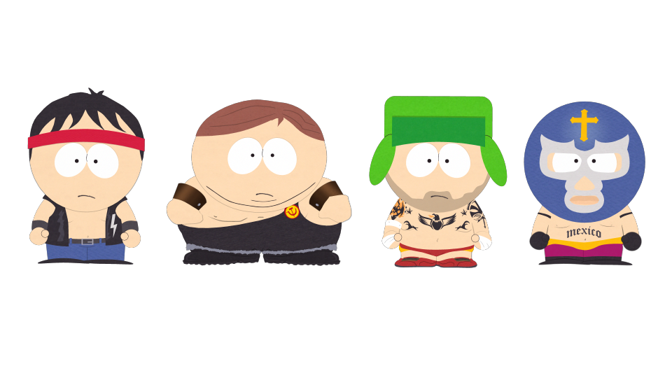 Wrestling takedown federation official. Wrestlers clipart south park