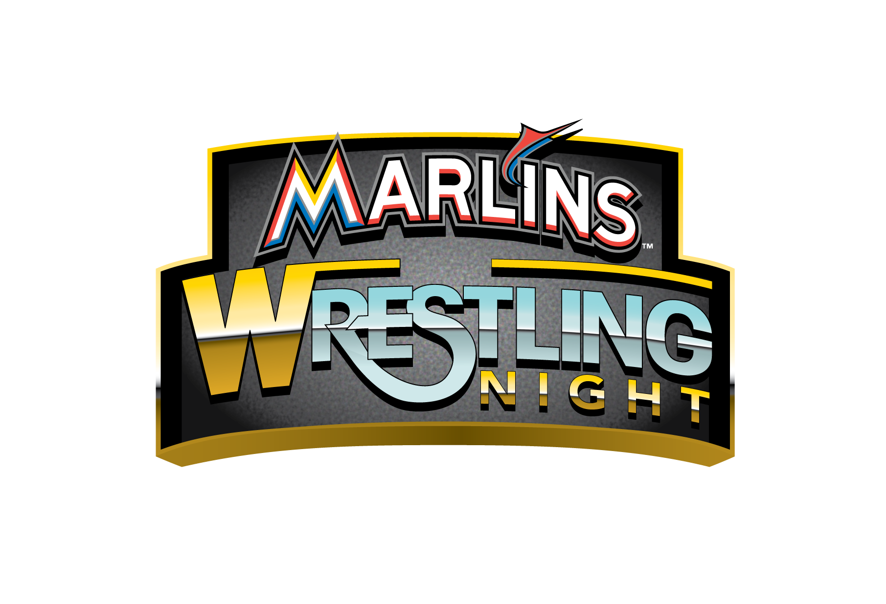 Wrestlers clipart sports meet. Miami marlins host wrestling