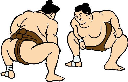 Wrestlers clipart sumo wrestler. Download dibujos de wrestling