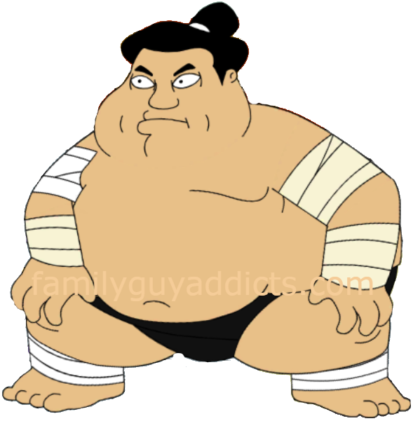 Family guy addicts sumowrestler. Wrestlers clipart sumo wrestler