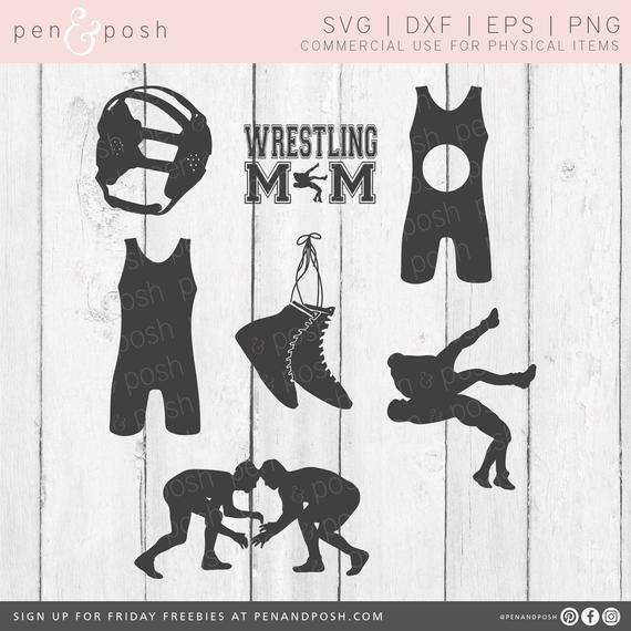 Wrestling files monogram bundle. Wrestlers clipart svg