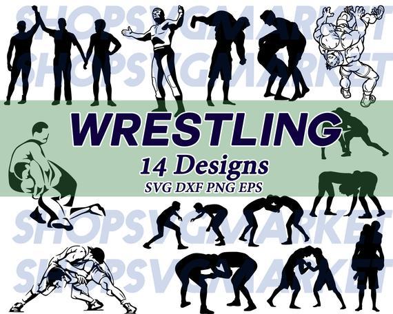 Wrestling wrestler fighting exercise. Wrestlers clipart svg