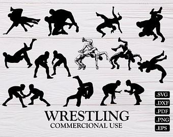 Wrestlers clipart svg. Wrestling clip art etsy