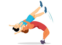 Sports free wrestling to. Wrestlers clipart two