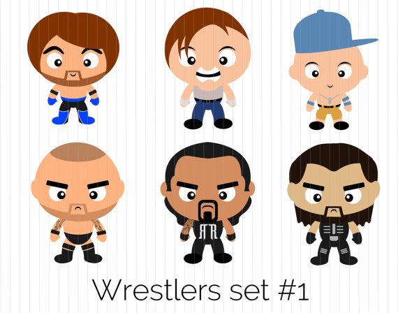 Wrestlers clipart wrestler wwe.  clipartlook