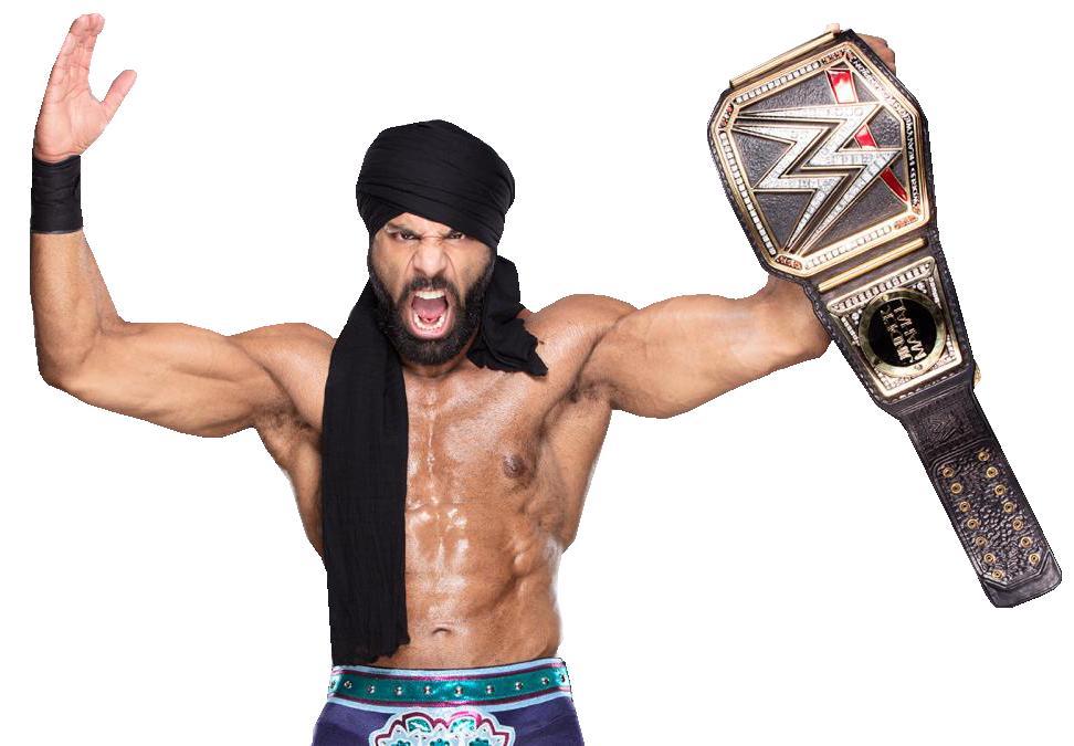 Wrestlers clipart wrestling champion. Jinder mahal png transparent