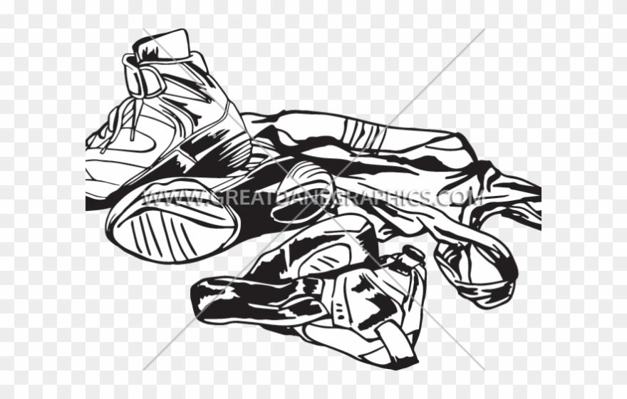 Wrestler equipment headgear . Wrestlers clipart wrestling shoe
