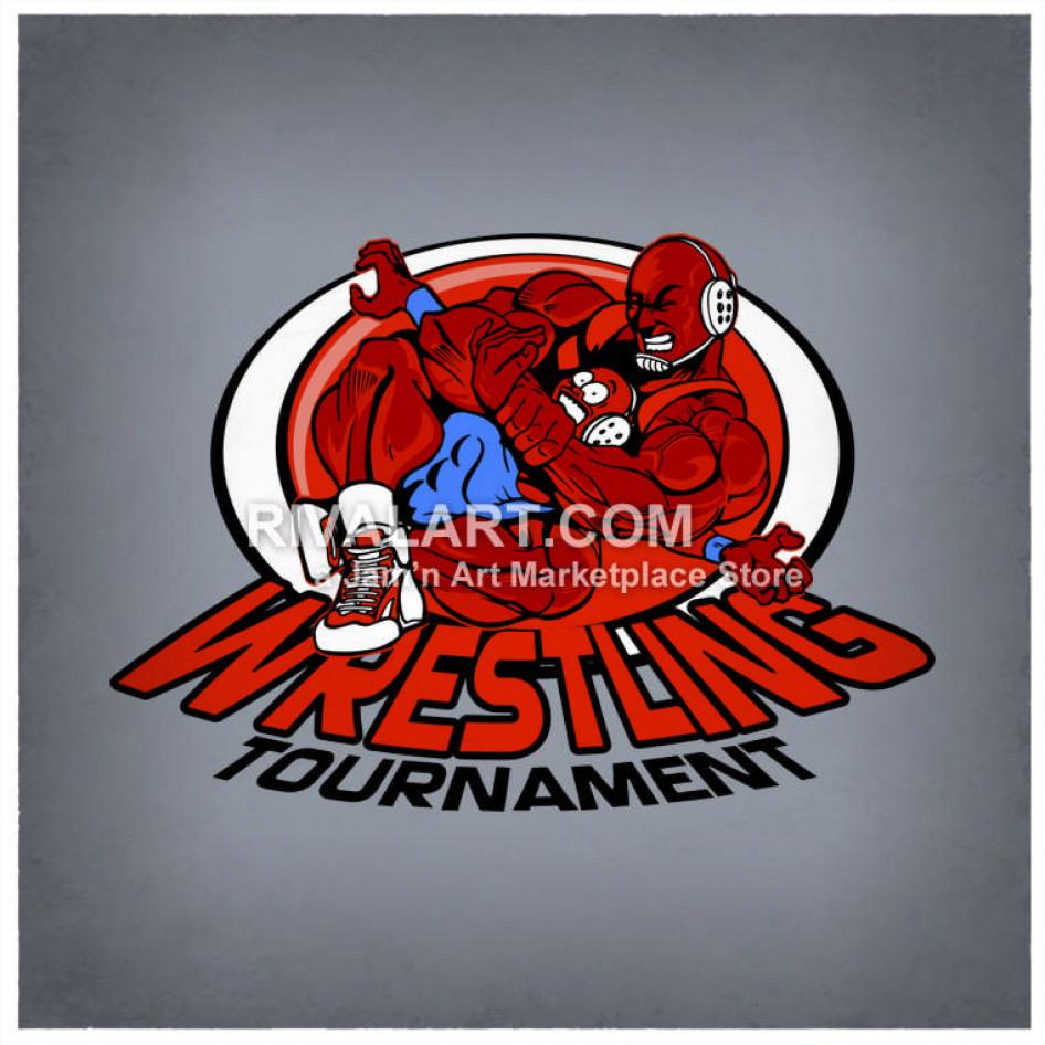 Choke hold head lock. Wrestlers clipart wrestling tournament