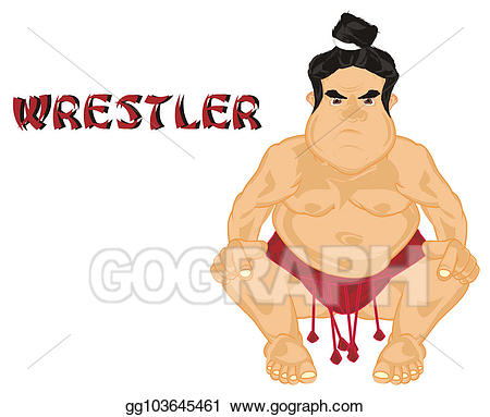 Stock illustrations evil sumo. Wrestlers clipart wrestling word