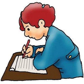 Free Clip Art Children Writing