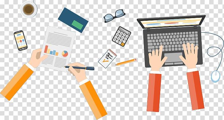 Website development digital marketing. Writer clipart business writing