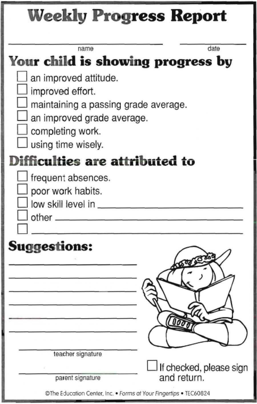 Weekly progress ideas template. Writer clipart daily report