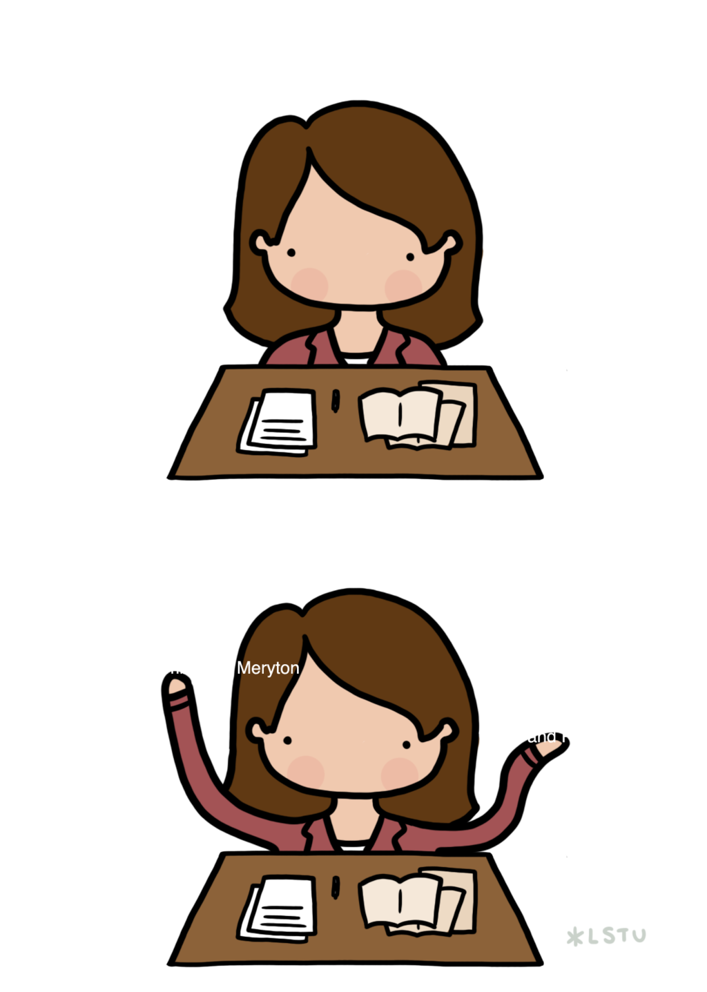 Writer clipart easy exam. Panic time by letssavetheuniverse