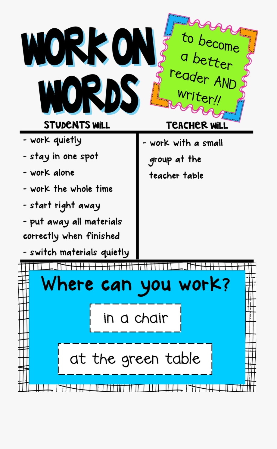 Writer clipart finished work. All i word chart