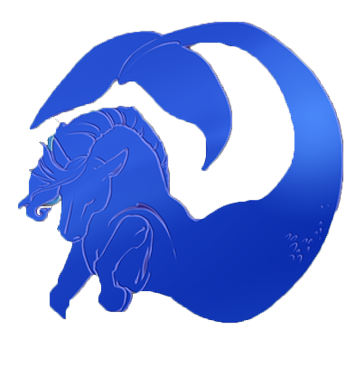 Writer clipart guild. Water horse mark by