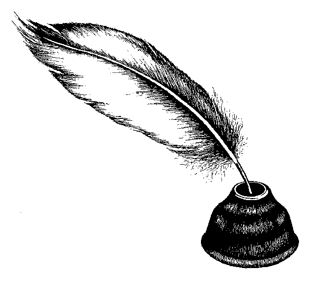 Images of quill and. Writer clipart ink