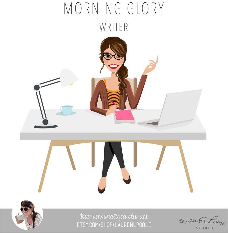 Clip art logo home. Writer clipart morning work
