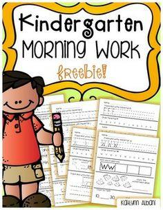 Writer clipart morning work.  best kindergarten images