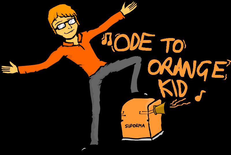 To orange kid by. Writer clipart ode