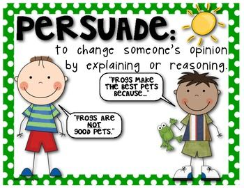 Writer clipart opinion writing. Fact persuade poster set