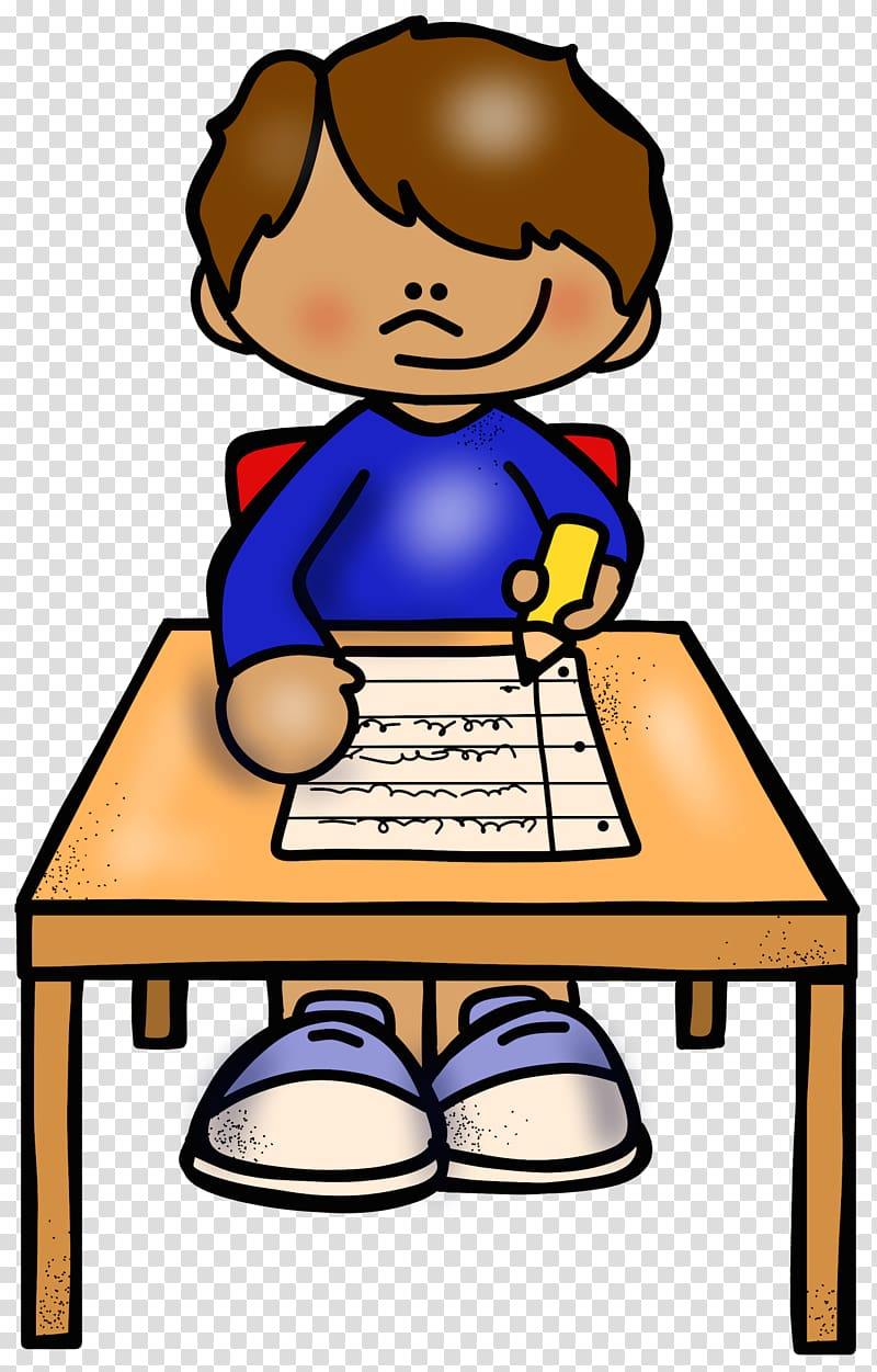 Writing reading comprehension skill. Writer clipart quietly