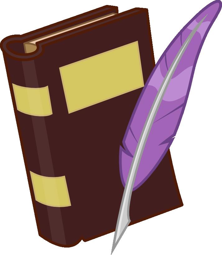 Pen cutie mark by. Writer clipart scribe