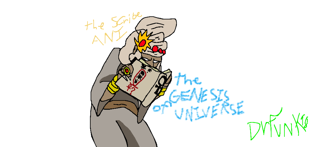 Writer clipart scribe. The ani and genesis
