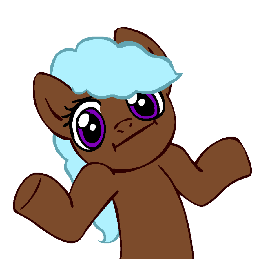 Astral shrugpony by roughsketch. Writer clipart scribe