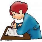 Writer clipart sport writer. Boy writing clip art