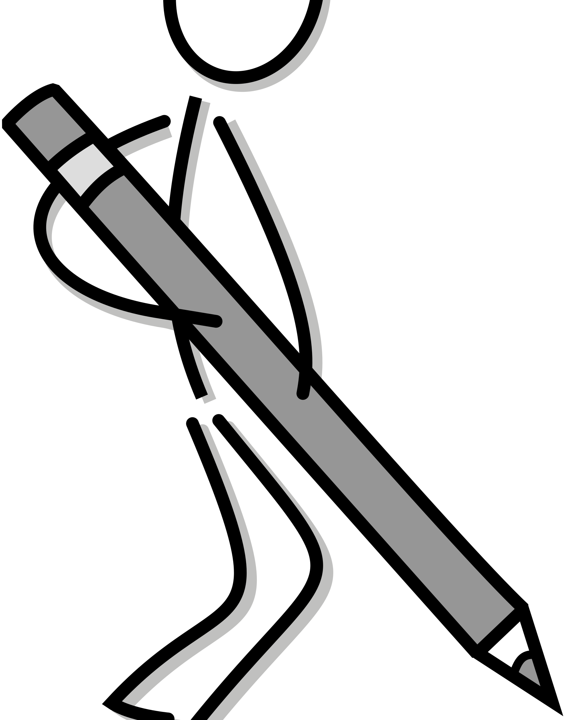 Stickfigure with pen big. Writer clipart stick figure