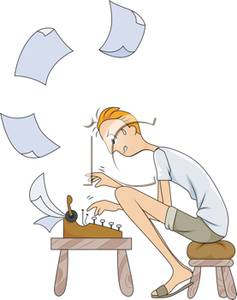 Writer clipart typing. Clip art image a
