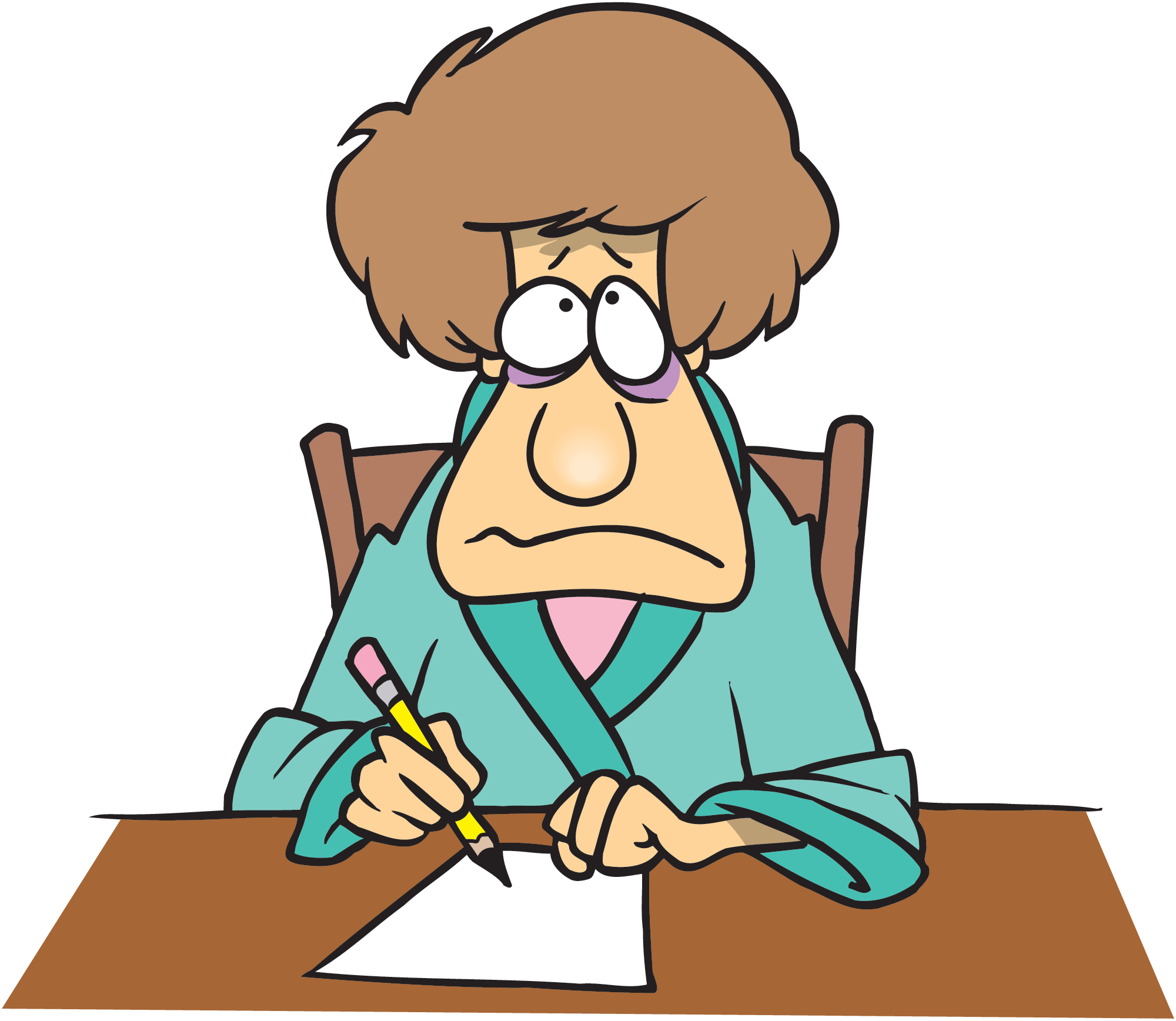 Writing a letter . Writer clipart woman writer