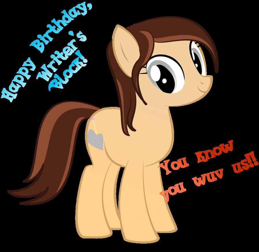 Happy birthday s by. Writer clipart writer's block