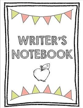 S inserts literacy activities. Writer clipart writer's notebook