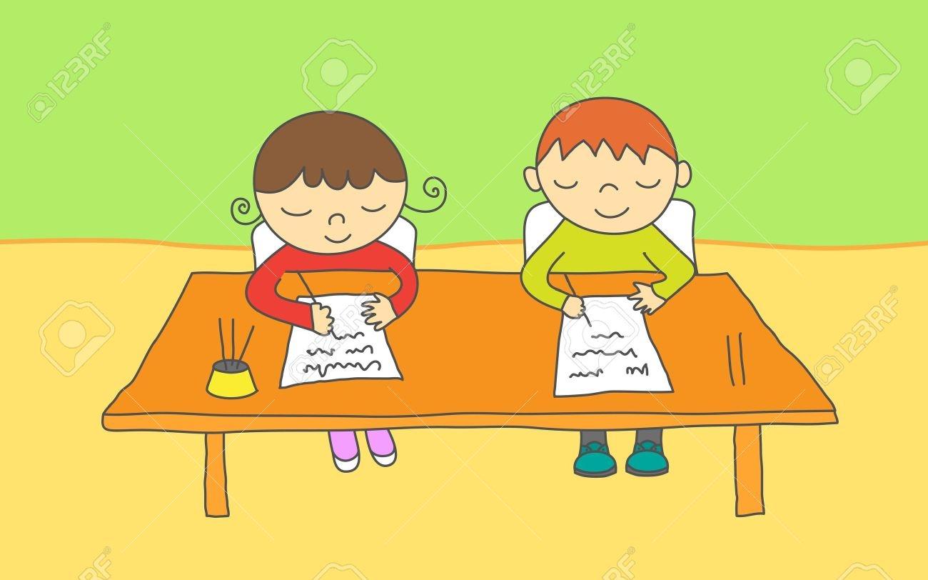 Students writing exam portal. Writer clipart written examination