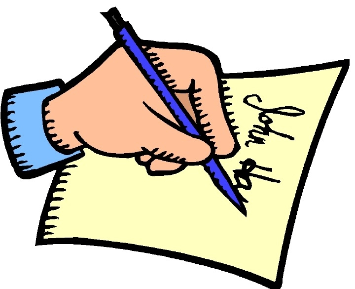 Writing letters free download. Writer clipart written note