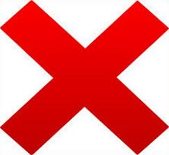 Free red mark. X clipart