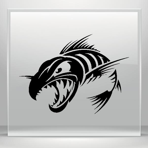Simple color vinyl aggressive. Xray clipart fish