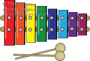 Xylophone clipart. Clip art illustration of