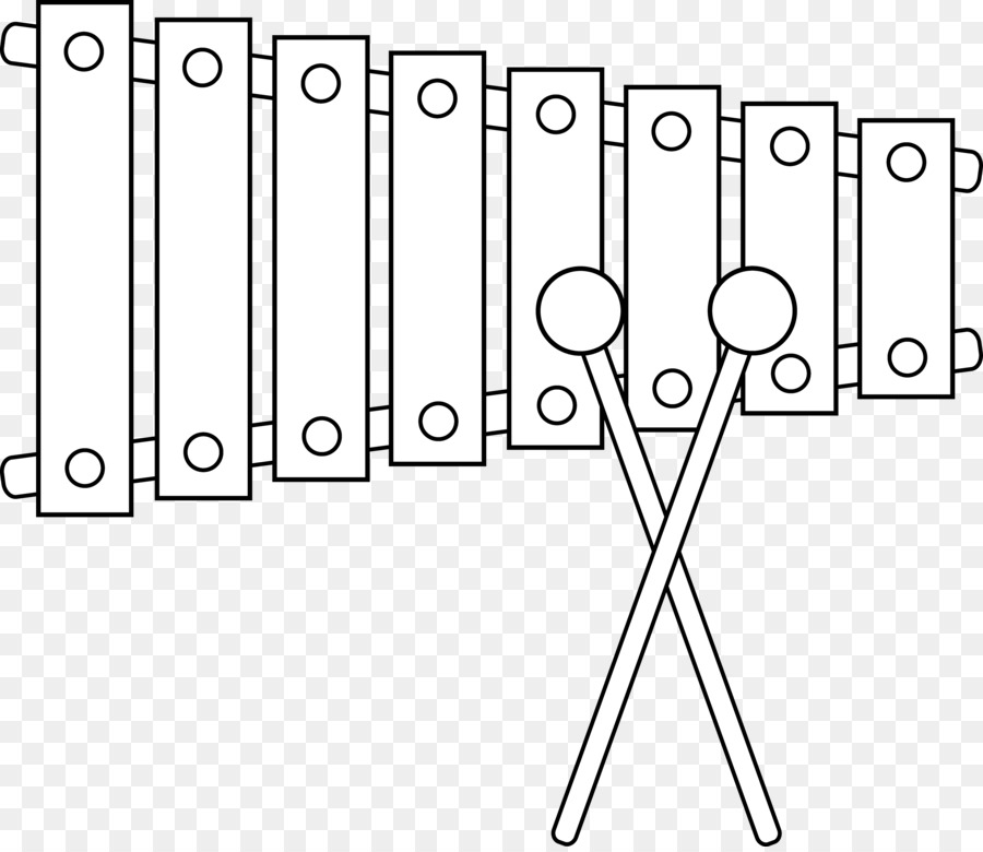 Line art musical instruments. Xylophone clipart