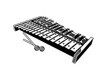 Xylophone clipart bell. Marimba glockenspiel musical instrument