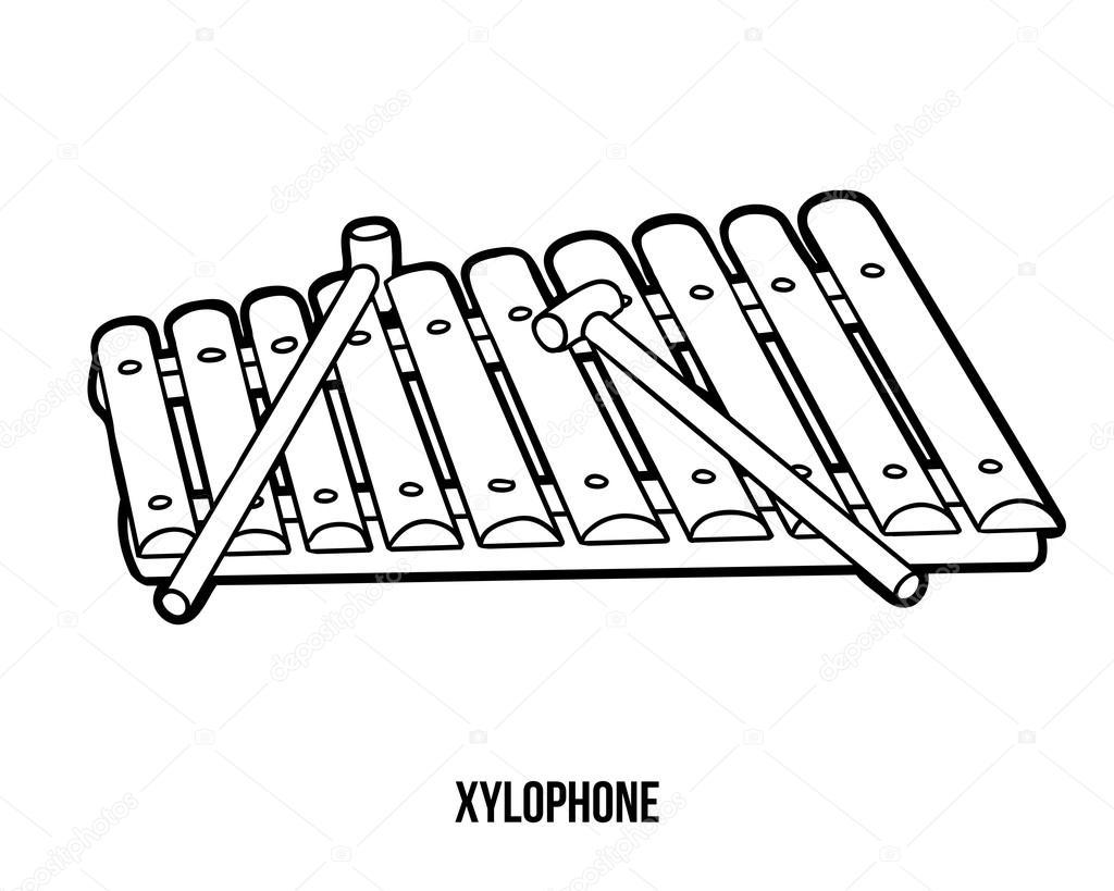Portal . Xylophone clipart black and white