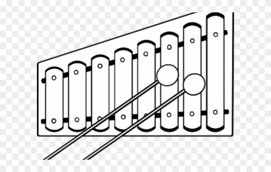 Colors shapes . Xylophone clipart black and white
